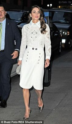 Queen Rania Fashion Queen Rania whi...