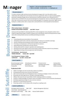 Business Resume Templates Business Development Manager Cv Template Managers Resume