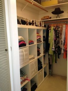 Marvelous Small Walk In Closet With White Wooden Cube Racks And Vinyl Shoe Small Walk In Wardrobe Design #walkingshoes #shoerackdesign