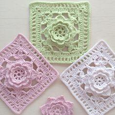 💚Sabret..Şükret..Seyret💚 @zumruet Deneme 1-2-3...😊🌸🍃🌸Instagram photo | Websta (Webstagram) Diy Crochet Granny Square, Crochet Squares, Crochet Motif, Crochet Lace, Granny Squares, Diy Crochet Garland, Doilies, Blanket, Afghans