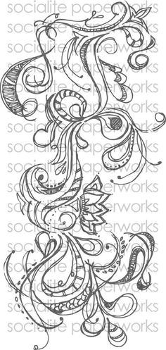Hand Drawn Flourish Swirl - Vector images, Digital files (EPS, AI, JPG) - Personal and Commercial Use. $3.50, via Etsy.