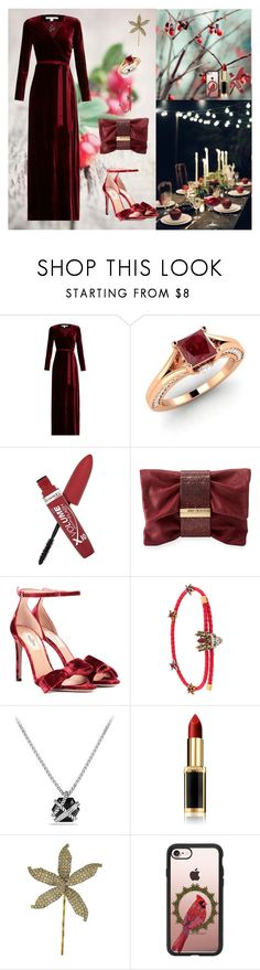 """Evening Prom🍷🍤"" by oksana-kolesnyk ❤ liked on Polyvore featuring Diane Von Furstenberg, Diamondere, Rimmel, Jimmy Choo, Valentino, Alexander McQueen, David Yurman, L'Oréal Paris, Jennifer Behr and Casetify"