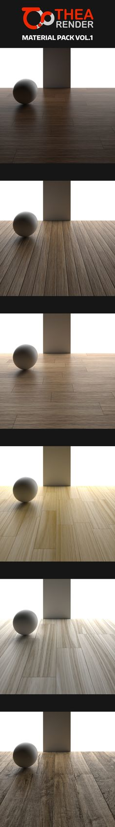 Todays freebie is a free Thea Render Material Pack Vol.1 created by Anthony Boyd. These theamaterials were created using seamless wood textures. All wood materials come with diffuse, reflection, and bump maps. Each material comes in mat.pack so all the necessary files are already included. Free for both personal and commercial use.
