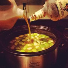 Fall Drink - Rum mixed with apple cider . Apples cinnamon and oranges Fall Drinks, Mixed Drinks, Apple Cider Mixed Drink, Drink Rum, Apples, Cinnamon, Alcohol, Holidays, Ethnic Recipes