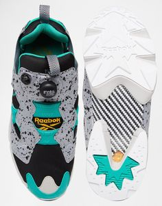 Image 3 of Reebok Instapump Fury Speckle Trainers V66115