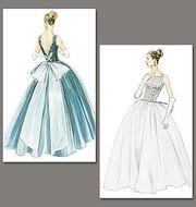 englisches Schnittmuster Vogue 8729 Kleid AA 6-12 (32-38)