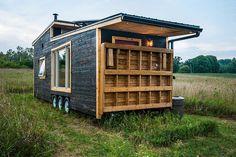 Deck Folded Up - Greenmoxie Tiny House