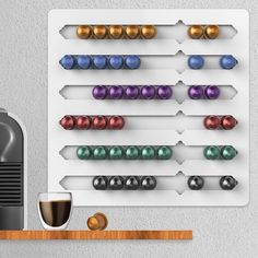 Capsule Abacus - White Acrylic - Nespresso Wall-mount Pod Holder
