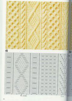 SOLO PUNTOS: Trenzas, puntos cruzados tricot