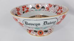 Small Imari Pattern Boveys Dairy pedestal bowl. Came in at least 3 sizes. C1892 onwards.