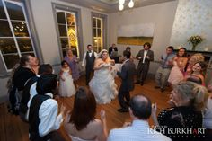 Rockin' and celebrating wedding reception at Churchill's 10 Downing, Downtown Savannah, GA with Savannah Wedding DJ Ray Williams.