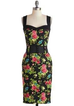 Cool Vibes Dress in Floral. Bring a welcomed pop of color to tonights bash by appearing in this floral sheath dress!  #modcloth
