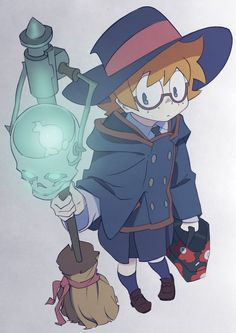 Lotte Jansson, one of Akko's friends and roommate at Luna Nova. She is one of the first friends Akko gets to know. She is the exact opposite of Diana in regards of knowing everything (she doesn't float in her knowledge like Diana does). Little Witch Academia Lotte, Little Wich Academia, Manga Anime, Anime Art, Fanart, Magical Girl, Netflix Anime, Estilo Anime, Me Me Me Anime