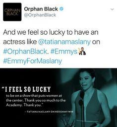 Tatiana Maslany 2016 Emmys Black Tv Shows, Tatiana Maslany, Orphan Black, Girl Crushes, Bbc, Fandom, Geek, Club, Feelings
