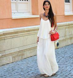 vestido casual maxi blanco 2015