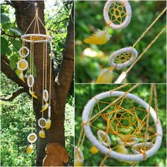 FREE SHIPPING  Spiral Dreamcatcher   Yellow Orange and by PsyMagic, €35.00