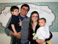 Megan Certified Birth Doula and family.