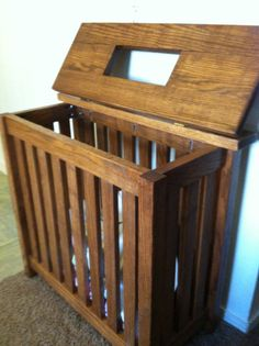 Mission Style Clothes Hamper w/ Sock Slot Woodworking Furniture, Diy Woodworking, Diy Workbench, Nursery Organization, Particle Board, Diy Home Decor, Room Decor, Diy Wood Projects, Style Clothes