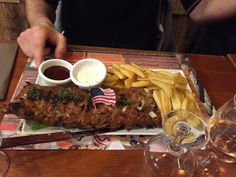 Ribs barbecue miel et frites #BillCodyFactory