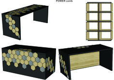 """Woost """"POWER – comb"""" furniture concept exclusively for head managers. Different materials, textures and colours are available. Let us know what you think."""