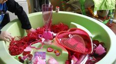 valentines day sensory table
