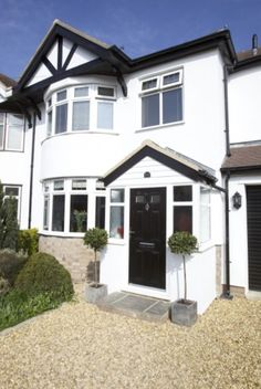 Classic 1930s semi detached house uk typical settings for Before after exterior 1930