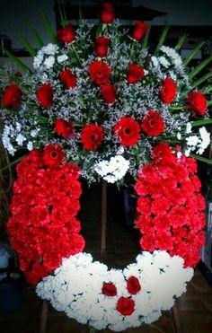 Corna de flores de la floristería de Zamora