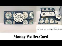 Money Wallet Card - Quick and Easy Diy Wallet Paper, Card Wallet, Money Holders, Card Holders, Gift Cards Money, Birthday Gift Cards, Art Basics, Wallet Tutorial, Handmade Gift Tags