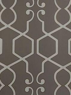 powder room.  DecoratorsBest - Detail1 - CC W0010/05 - Augustus - Smoke - Wallpaper - Fabrics - DecoratorsBest