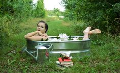 Lovely magnolia bath in the countryside of Madison, Georgia. Psycho Psysters Photography