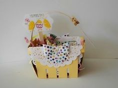 Stampin' Up! Easter Berry Basket with For Peeps' Sake set.  February stamp camp.  http://stampinsueduffy.stampinup.net