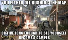 You either die rushing the map in 'Call of Duty'