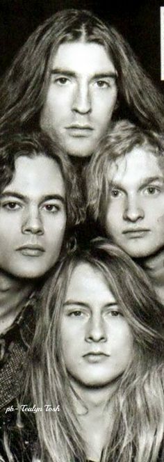 ❇Téa Tosh❇Alice in Chains, in Bellows, Seattle (Dec 1989) Top clockwise, Mike Starr, Sean Kinney, Layne Staley, Jerry Cantrel ( RIP Layne Staley & Mike Starr)