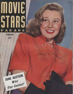 June Allyson on the February 1945 Movie Stars Parade | Flickr - Photo Sharing!