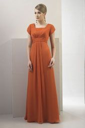 Long Modest Chiffon dress perfect for Mother of the Bride