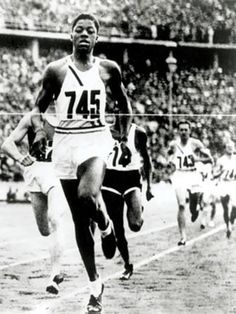 John Woodruff USA, winner of the 800 metres at the 1936 Olympic Games