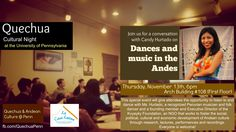 Dance and Music in the Andes: Talk at uPenn. More info: https://www.facebook.com/events/767199443326137/