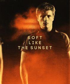 Orange is Peeta's favorite color, not like Effies hair, but soft like the sunset.