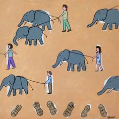 "Saatchi Art Artist brian nash; Painting, ""walking the elephants"" #art"