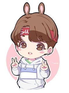 Image result for bts chibis with ears