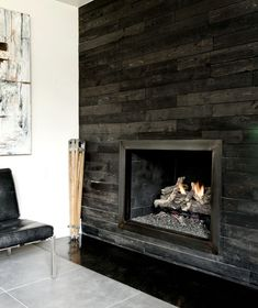 mid century modern remodel design pictures remodel decor and ideas page 3 wall fireplacesfireplace - Design Fireplace Wall