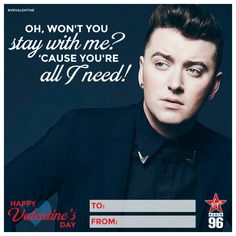 Virgin Radio is Montreal's Hit Music Station. Adult Pop radio, live from Montreal Canada. Say I Love You, Love Is All, Valentine Day Cards, Valentines, Lifestyle Articles, Music Station, Sam Smith, Local Events, If I Stay