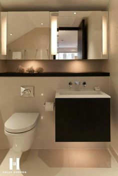 It doesn't matter whether you have a big home or a small home. Your bathroom is one of the rooms you should invest in as many luxurious fixtures and amenities as you can. Why A Bathroom is Worth Going… Bathroom Toilets, Bathroom Renos, Bathroom Interior, Modern Bathroom, Small Bathroom, Washroom, Bad Inspiration, Bathroom Inspiration, Downstairs Toilet