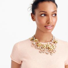 Midnight floral necklace : Jewelry Shop   J.Crew