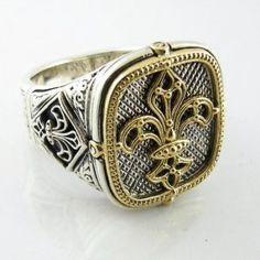 fleur de lis Konstantino men's ring