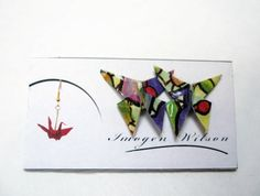 Origami Butterfly Stud Earrings- Stained Glass | Imogen Wilson Jewellery -Felt http://felt.co.nz/shop/imogenwilson