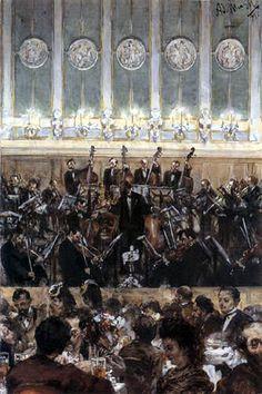 """""""Bilse Konzert"""", Adolf von Menzel, XIXème"""