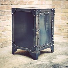 We've got some big projects coming up but in the meantime here's a little steel cabinet that's truly multifunctional. It could be an end table, night stand, office storage, printer stand, liquor cabinet, etc... #customfurniture #industrial #industrialfurniture #vintageindustrial #modernindustrial   #modernindustrialfurniture