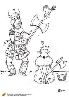 Coloriage Viking Cheval.10 Meilleures Images Du Tableau Coloriages De Vikings Coloring