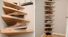 gutbauch Hidden shoe storage ideas for small spaces Hidden storage # for . Shoe Storage Small, Small Space Organization, Hidden Storage, Closet Storage, Diy Storage, Storage Shelves, Storage Baskets, Shoe Storage Ideas For Small Spaces, Organization Station